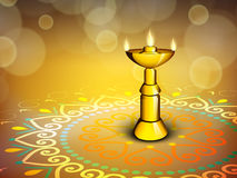 Diwali节日background.EPS 10。 免版税库存照片
