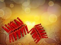Diwali节日background.EPS 10。 库存例证