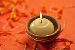 Diwali蜡烛 库存照片