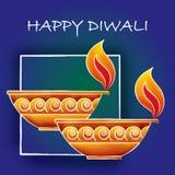 Diwali问候 库存照片