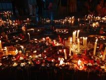 Diwali świętowanie z świeczkami i diyaas z światłami Zdjęcia Royalty Free