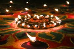 Diwali światła festiwal pali nafciane lampy zdjęcie royalty free