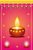 diwali карточки Стоковое Изображение