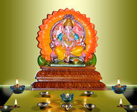 Diwali. Ganesh image in traditional lamps for diwali celebration Stock Images