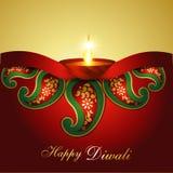 Индийская предпосылка Diwali Стоковые Фотографии RF