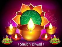 Дизайн карточки Diwali Стоковое Изображение