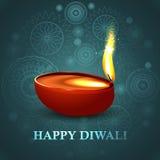 愉快的diwali美好的五颜六色的印度节日 免版税库存图片