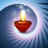 美丽的愉快的diwali艺术性的印度节日漩涡波浪  免版税库存照片