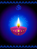 Diwali Background. Decorative Glowing Diwali Lamp Background Royalty Free Stock Photos
