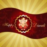 Diwali background. Beautiful hindu religion god lord ganesh ji artistic diwali background royalty free illustration