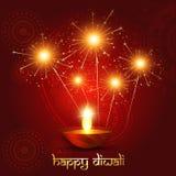 Diwali background. Beautiful diwali background with fireworks vector illustration