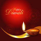 Diwali background. Beautiful artistic diwali diya vector illustration