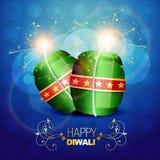 Diwali background. Vector diwali festival crackers on artistic vector background stock illustration