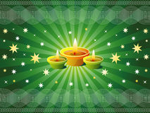 Diwali Background. With Sparkling Lamps Royalty Free Stock Photos