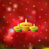 Diwali Background. With Sparkling Lamps Stock Photos
