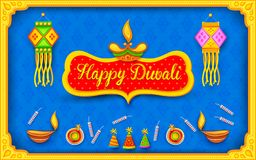 Diwali background with colorful firecracker. Illustration of Diwali background with colorful firecracker