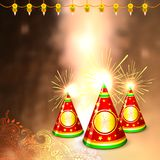 Diwali background with colorful firecracker Royalty Free Stock Photo