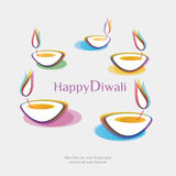 Diwali background. Come with layers Stock Images