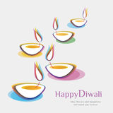 Diwali background. Come with layers Stock Image