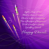 Diwali background with crackers Stock Images