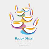 Diwali background. Come with layers Royalty Free Stock Photos