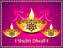 Diwali background With flroal Royalty Free Stock Photography