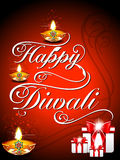 Diwali Background with fonts Stock Images
