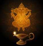 Diwali Background with Ganesha Stock Photography