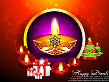 Diwali Background with gifts. Vector illustration Royalty Free Stock Photos