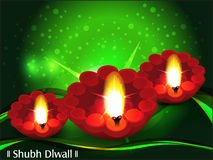 Diwali background with green wave Stock Images