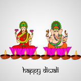 Diwali background. Illustration of elements for Diwali Stock Photography