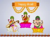 Diwali background. Illustration of elements for Diwali Stock Photos