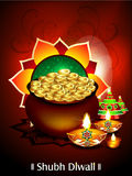 Diwali background with money Stock Image