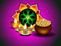 Diwali Background With Rangoli Stock Photography