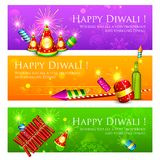 Diwali Banner. Illustration of Diwali banner with colorful firecracker