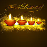 Diwali Beautiful oil lamp festival celebration Stock Images