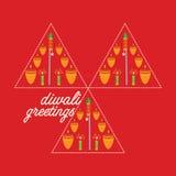 Diwali begrepp vektor illustrationer