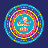 Diwali big festive sale banner design. Creative big festive banner design ,diwali festival offer Royalty Free Stock Images
