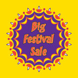 Diwali big festive sale banner design. Creative big festive banner design ,diwali festival offer Stock Photo