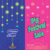 Diwali big festive sale banner design. Creative big festive banner design ,diwali festival offer Royalty Free Stock Photos