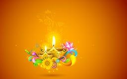 Diwali brûlant Diya Photos libres de droits