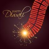 Diwali brinnande smällare stock illustrationer