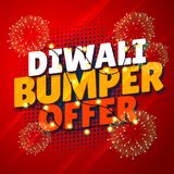 Diwali bumper offer sale promotional banner with hanging lights Royalty Free Stock Images