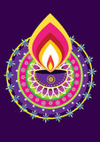 Diwali candle light Royalty Free Stock Image