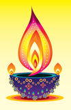Diwali candle light Stock Images