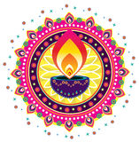 Diwali candle light Stock Photography