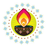 Diwali candle light Stock Photos
