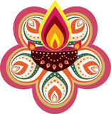 Diwali candle light. Graphic illustration vector illustration