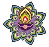 Diwali candle light. Graphic illustration Royalty Free Stock Photo