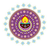 Diwali candle light Royalty Free Stock Photos